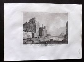 After Bartholomeus Breenbergh C1820 Antique Print. Italianate Landscape